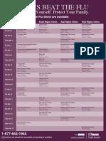 Flu Schedule 2011