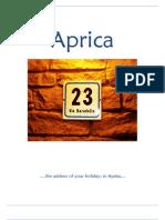 Pamphlet Aprica (English)