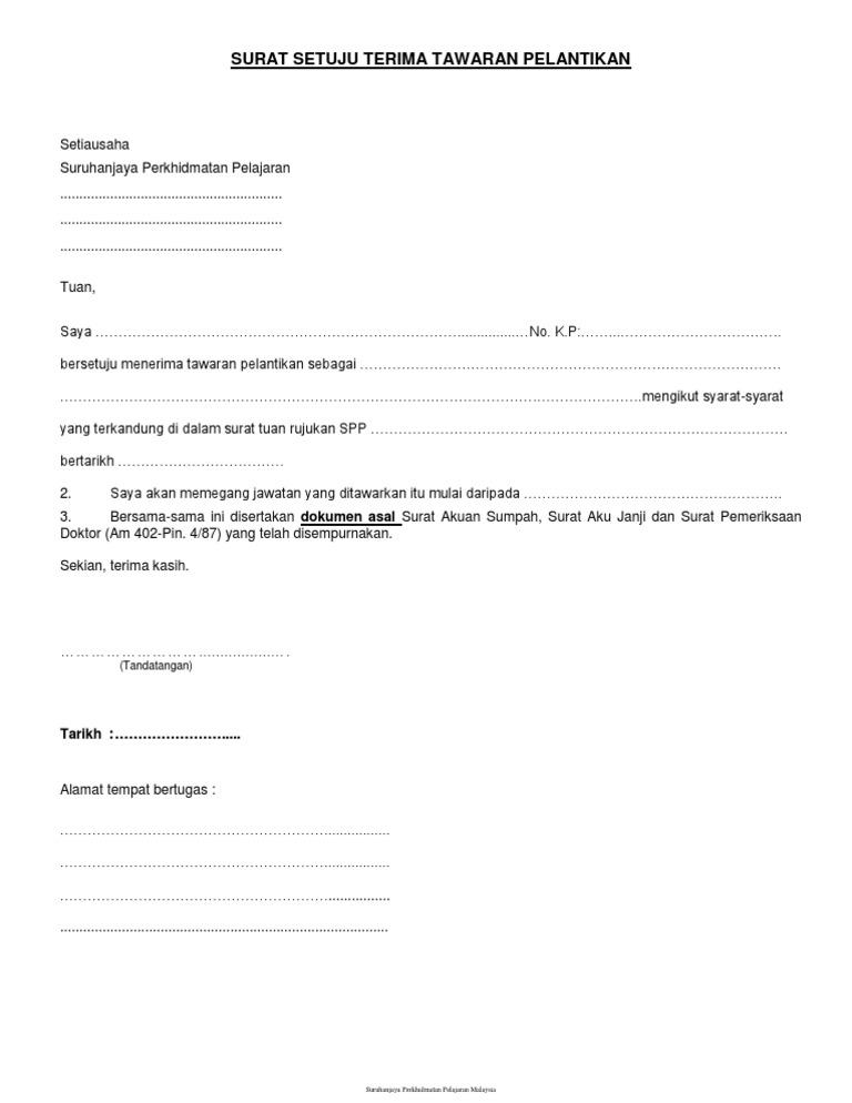 Bg007 Surat Setuju Terima Tawaran V3