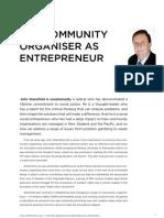 John Stansfield — The Community Organiser as Entrepreneur