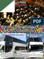 Información para el viaje al III Congreso Nacional de Trabajo Social en Tandil
