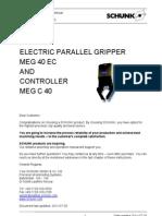 Manual PinzaSchunk MEG40-EC