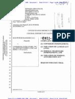 SCG Power Rangers, Inc. v. MyPartyShirt.Com Complaint