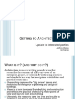 Getting to Architecture