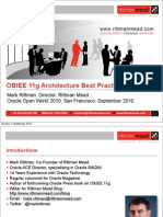 OBIEE 11gR1 Architecture Best Practices & New Features