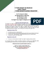 Tribal Registration Form