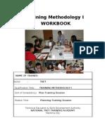 Plan Training Session Workbook