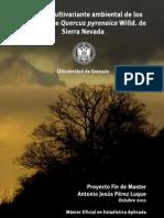 Analisis multivariante de los melojares nevadenses. Trabajo Fin de Master. Antonio Jesus Perez Luque