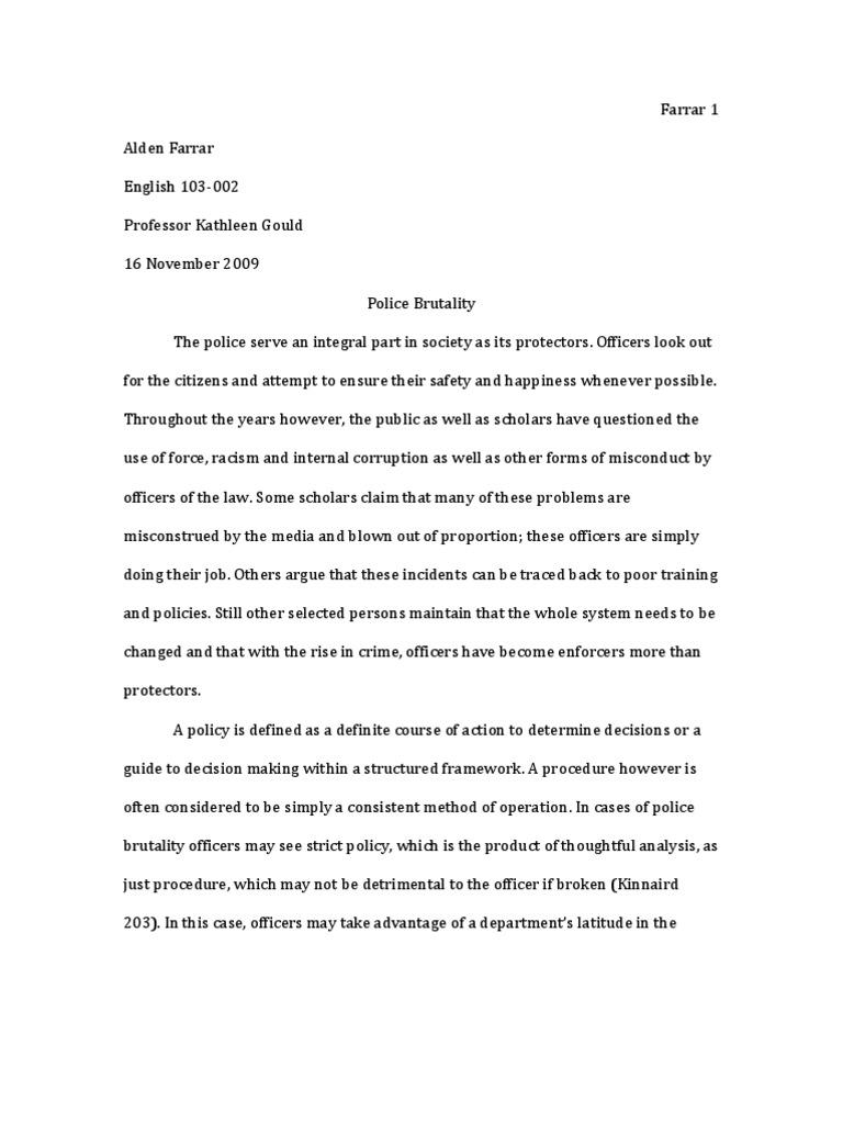 police brutality essay long police brutality