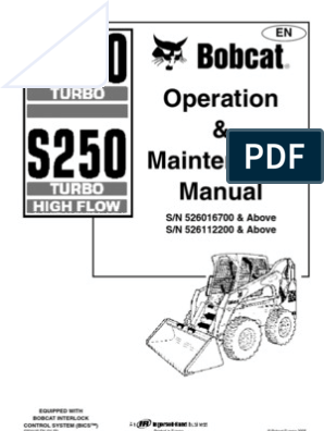 s250bobcat | Loader (Equipment) | Elevator