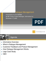 Customer Dialogue Management