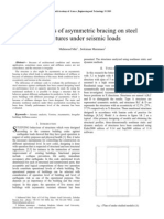 Effects of Asymmetric Bracing Under Seismic Loads