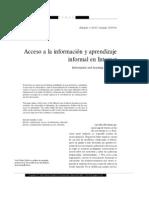 Acceso a la información y aprendizaje informal en Internet