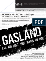 Gasland Screening at D'Youville College
