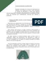 TÉCNICAS DE IMPRESIÓN EN PRÓTESIS FIJA