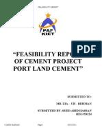 Feasibility Report Ghandara Cement
