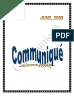 Communique JUNE