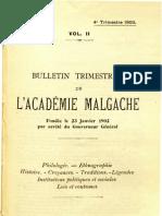 Bulletin de l'Académie Malgache II, 4 - 1903