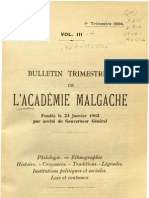 Bulletin de l'Académie Malgache III, 1 - 1904