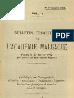 Bulletin de l'Académie Malgache IV, 4 - 1904