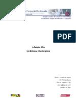 a função afim - um enfoque interdisciplinar