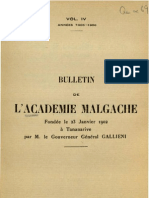 Bulletin de l'Académie Malgache IV - 1905