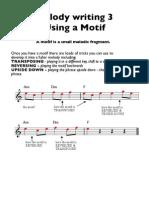 Melody Writing 3 (Motif) GCSE