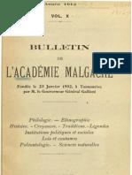 Bulletin de l'Académie Malgache X - 1912