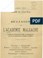 Bulletin de l'Académie Malgache XII, 1 - 1913