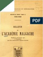 Bulletin de l'Académie Malgache VI - 1922