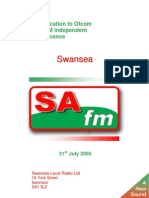 'An Application To Ofcom For The FM Independent Local Radio Licence For Swansea By SAfm' by Grant Goddard
