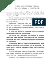 Aniversário da Constituição Federal, diga não a convocação de Constituinte