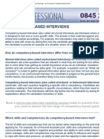 Competency-Based Interviews - An Overview of Competency-Based Interview Questions