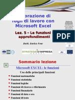 05 Excel Funzioni