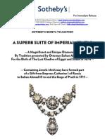 Press Release - Suite of Imperial Jewels - Sotheby's Geneva - 15 Nov 2011