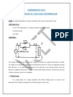 Single Phase Ac Voltage Controller