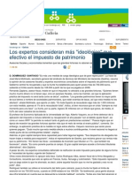Impuesto de Patrimonio, Faro de Vigo