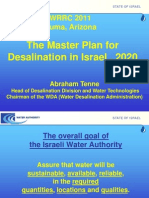 The Master Plan for Desalination in Israel