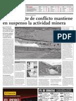 Un Ambiente de Conflicto Mantiene en Suspenso La Actividad Minera