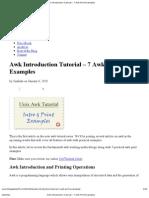 Awk Introduction Tutorial – 7 Awk Print Examples