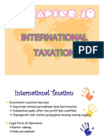 New International Taxation & Transfer Pricing