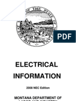 Montana State Electrical Code Booklet