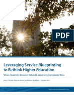 Leveraging Service Blueprinting to Rethink Higher Education