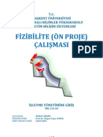 YBS112 Fizibilite (on Proje) Raporu Calismasi