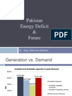 Energy Defecit & Future of Pakistan 011