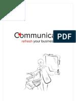 Despre Consultanta in Comunicare - Brosura explicativa oferita de Communicate Agency
