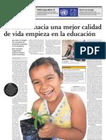 El cambio hacia una mejor calidad de vida empieza en la educación