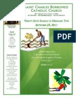 September 25, 2011 Bulletin