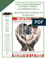 October 2, 2011 Bulletin