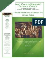 October 9, 2011 Bulletin